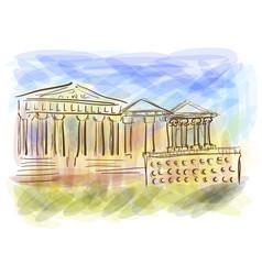acropolis abstract vector image