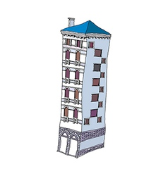 An apartment stand on vector