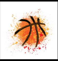 Basketball orange grunge background vector