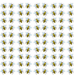 bees wallpaper on white background vector image