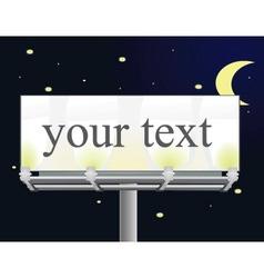 Billboard by night vector image