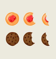 Biscuit cracker set vector