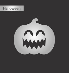Black and white style icon halloween pumpkin vector