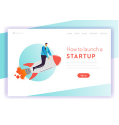 business project start up concept landing page vector image