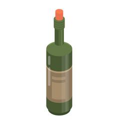 cabernet bottle icon isometric style vector image