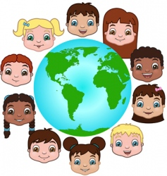 children of the world vector image