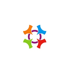 Circle colorful abstract shape logo vector