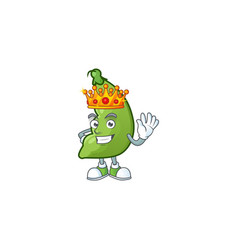 Cool king broad beans on cartoon character vector