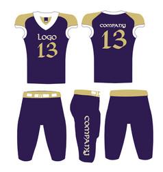 Custom design american football uniform vector