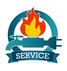 Emblem of service vector