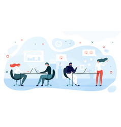 employees informal communication in office vector image
