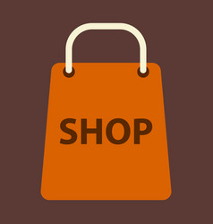 flat icon basket shop vector image