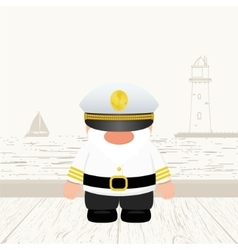 Funny Captain vector image