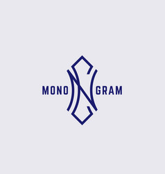 Geometric monogram nc vector
