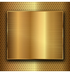 gold metal vector image vector image