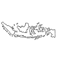 Hand draw sketch outline sketch map indonesia vector
