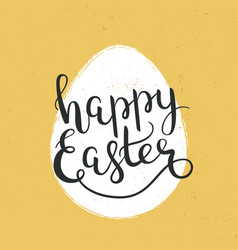 happy easter hand-drawn lettering decoration text vector image
