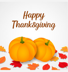 happy thanksgiving concept background isometric vector image