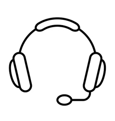 headset isolated icon design vector image