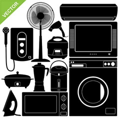Home Appliances Electronic vector