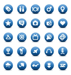 icons for travel and leisure vector image