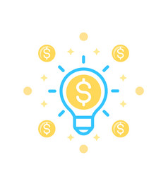 idea is money icon on white vector image