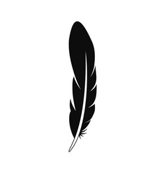 Ink feather icon simple style vector