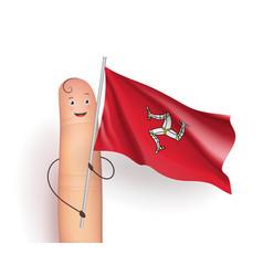 Isle of mann flag vector