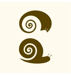 Isolated snail logo Animal sign Simple vector