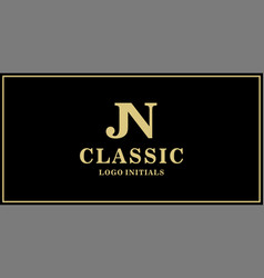 jn monogram classic logo design inspiration vector image