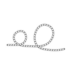 lasso rope isolated icon vector image
