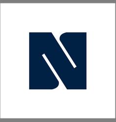 letter n logo designs initials n logo vector image