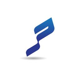 Letter p logo modern logo design concept template vector