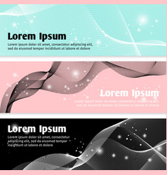 Linear curve waves banners vector