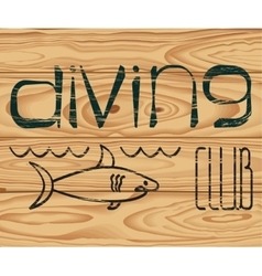 logo of Diving Club vector image