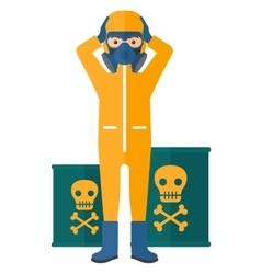 Man in protective chemical suit vector image