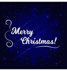 Merry Christmas Typographical vector image