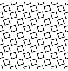 Monochrome seamless geometrical square pattern vector