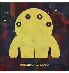 Monster on grunge background vector image