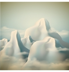 Mountain range background vector