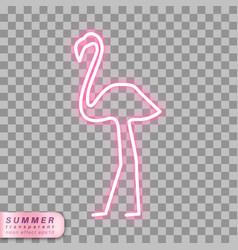 Neon flamingo symbol vector