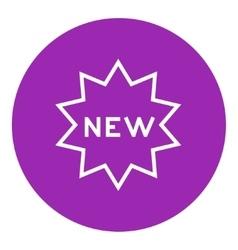 New tag line icon vector