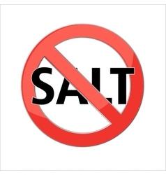 No salt sign vector
