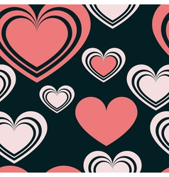 pattern heart 2 vector image