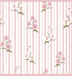 pattern with beautiful alstroemeria lily flowers vector image
