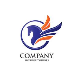 Pegasus logo concept vector