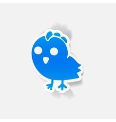 Realistic design element chicken vector