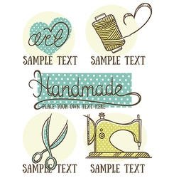 Retro handmade vector