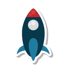 Rocket space transport isolated icon vector