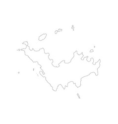 Saint barthelemy map vector